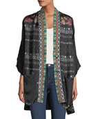 Johnny Was Plus Size Dacey Printed Reversible Silk