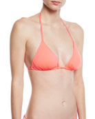 Milly Cabo Solid Triangle Bikini Top