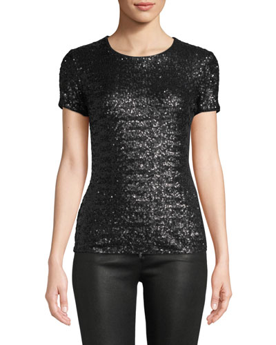 Celebration Sequined Crewneck T-Shirt
