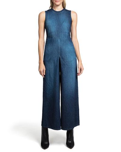 d63b3f8edd7a Blue Wide-leg Jumpsuit