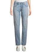 PRPS El Camino Tapered Boyfriend Jeans with Pearl