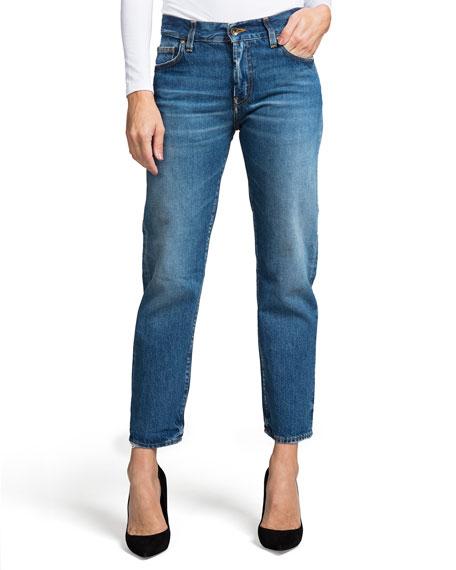 PRPS Delorean Mid-Rise Ankle Straight-Leg Jeans - Equinox