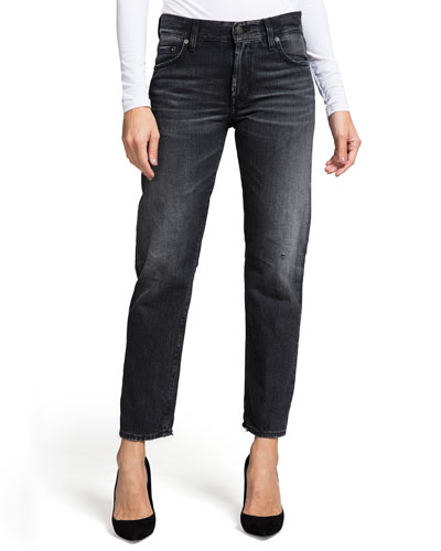 Delorean Mid-Rise Straight-Leg Ankle Jeans - Northern Lights