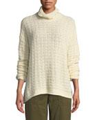 Eileen Fisher Petite Peruvian Funnel-Neck Sweater
