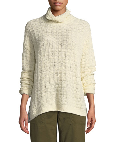 Petite Peruvian Funnel-Neck Sweater