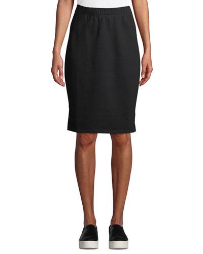 Organic Cotton Terry Pencil Skirt, Petite