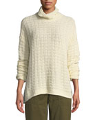 Eileen Fisher Peruvian Funnel-Neck Sweater