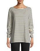 Eileen Fisher Seaside Striped Organic Cotton Sweater