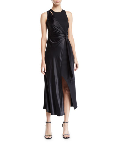 Eleanora Asymmetric Wrap Dress