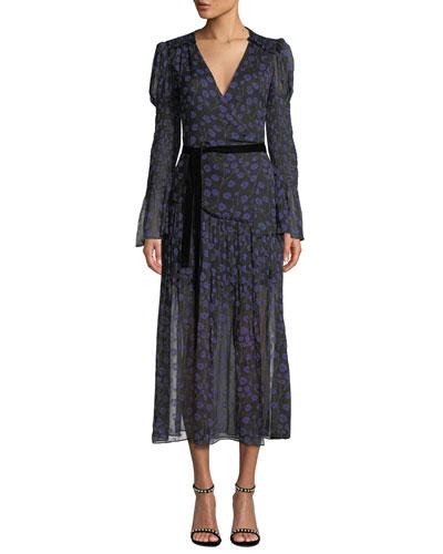 a295f66f7bd57 Black Silk Wrap Dress