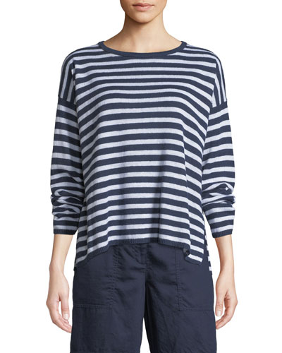 f7c9cd68826f64 Quick Look. Eileen Fisher · Petite Striped Organic Linen ...