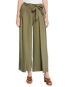 Eileen Fisher Petite Heavy Tencel� Twill Wide-Leg Pants