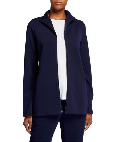 Travel Ponte Zip-Front Jacket