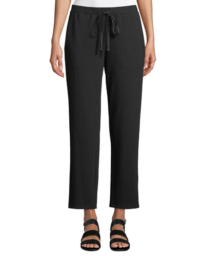Petite Travel Ponte Ankle Pants