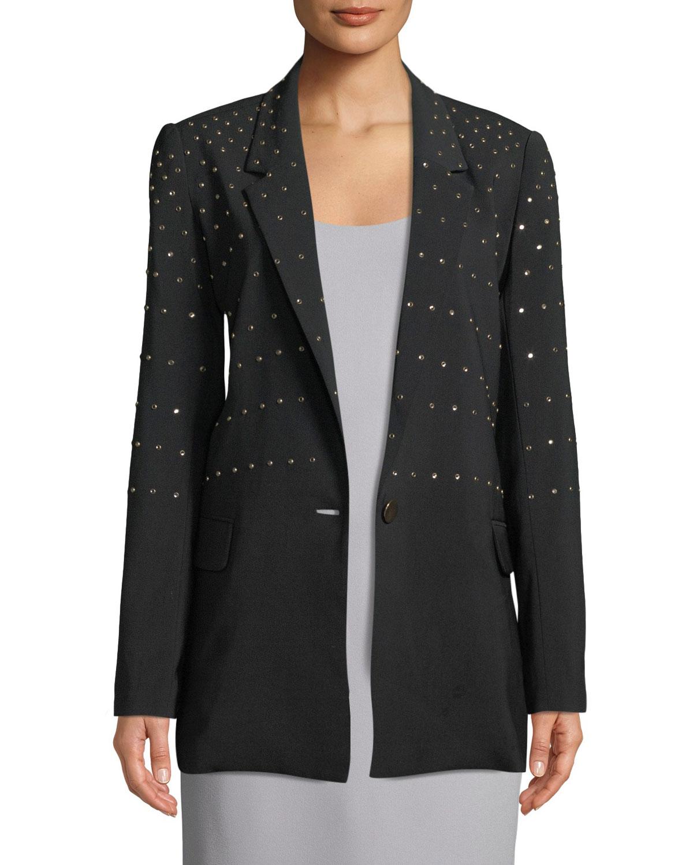 Studded Single-Button Blazer