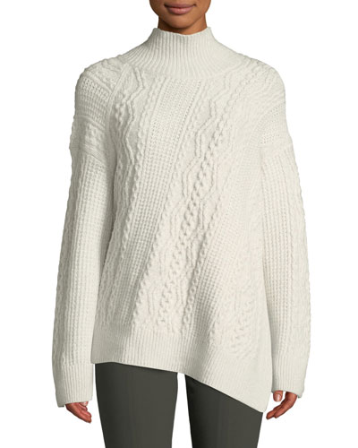 6a1a93a1cc Quick Look. Vince · Diagonal Cable-Knit Turtleneck Sweater