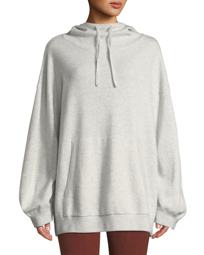 Double-Layer Oversized Cashmere Hoodie