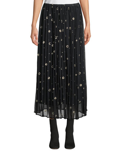 f13514767ed Quick Look. Vince · Metallic Embroidered Silk Long Skirt
