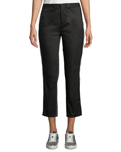 Nobu Embellished Two-Tone Tuxedo Pants