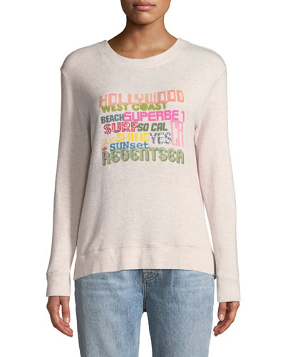 Bay St. Hollywood Graphic Pullover Sweatshirt