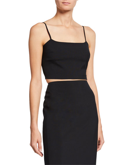 alexanderwang.t Washable Wool Square-Neck Crop Top