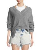 alexanderwang.t Bi-Layer Ls Raglan Sweater W and Matching
