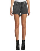 alexanderwang.t Bite High-Rise Cutoff Denim Shorts