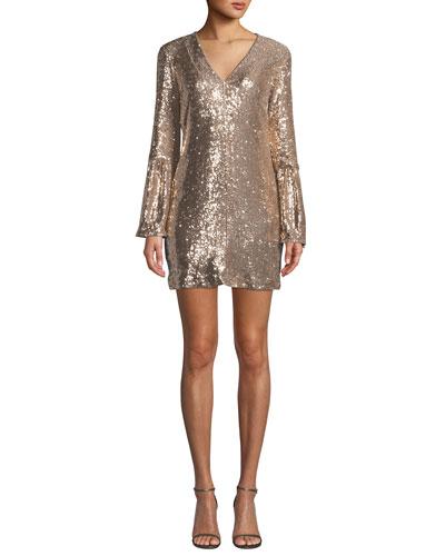 3ff2603e563 Quick Look. Nanette Lepore · Sestina Sequin Long-Sleeve Mini Dress