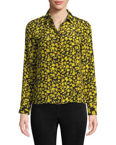 466f8eac0e8e5 Quick Look. Alice + Olivia · Willa Floral Print Silk Shirt