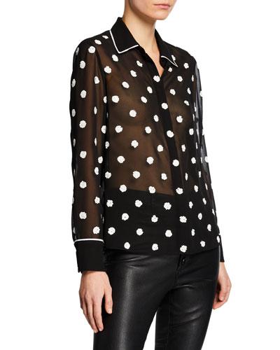 f671b139 Black Sheer Top | Neiman Marcus