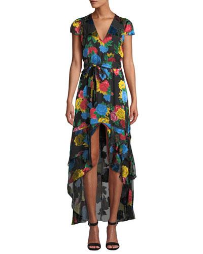 Erika Ruffle Midi Dress