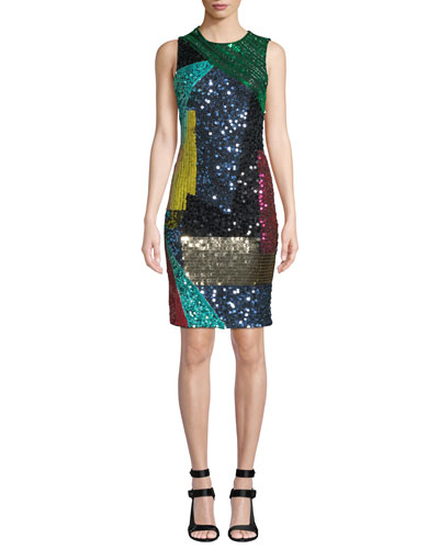 Fitted Sequined Dress  a4288d3da