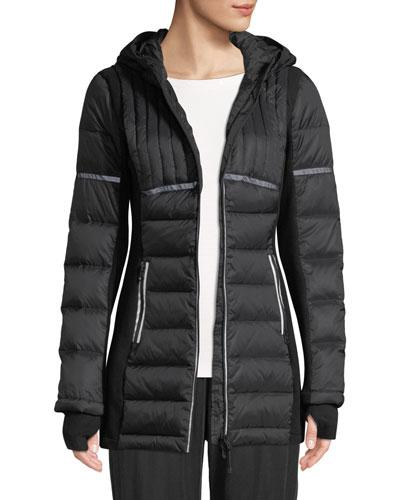 Reflective Inset Featherweight Parka Puffer Jacket
