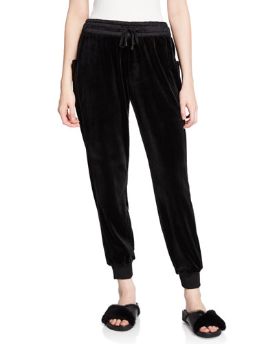 Posh Velour Drawstring Jogger Pants