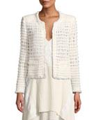 Iro Startle Open-Front Long-Sleeve Open-Knit Jacket