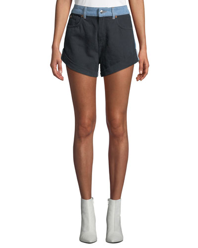 Willing Two-Tone Denim Shorts