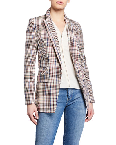 Fuller Check Single-Button Dickey Jacket