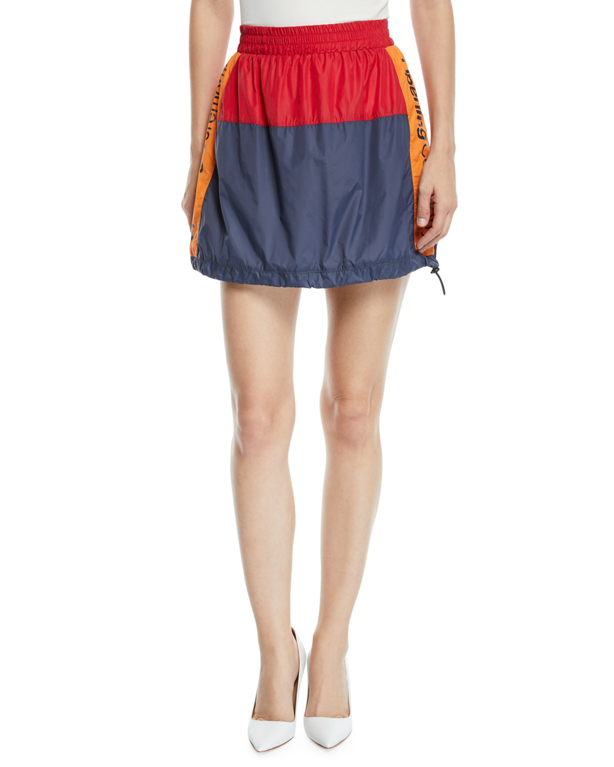OPENING CEREMONY Warm-Up Colorblock Logo Mini Skirt in 4605 Colleg