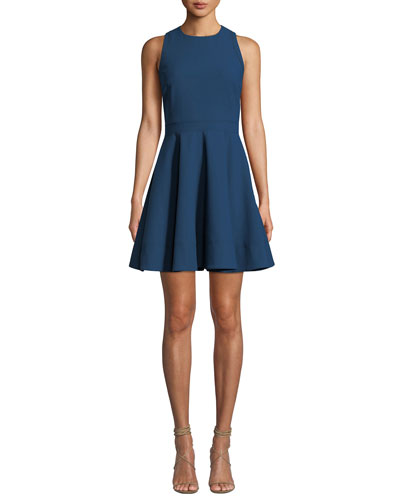 Araceli Scoop-Neck Sleeveless Short Dress