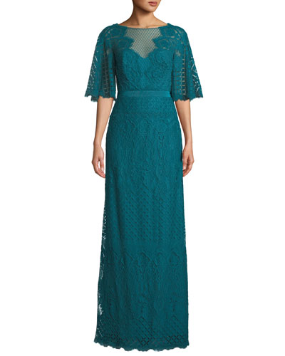 b90a54f69ab Lace Evening Gown | Neiman Marcus