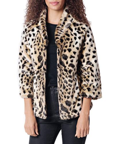 187f77c612e Quick Look. Fabulous Furs · Leopard Perfect Little Faux Fur Jacket