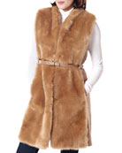 Fabulous Furs Polished Faux Fur & Knit Vest