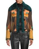 Coach Craft Deco Shearling Jacket