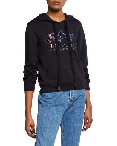 Mirrored Rexy And Carriage Satin-Stitch Logo Sweatshirt