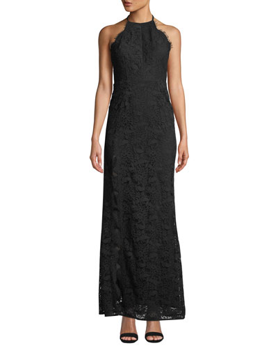 Melanie Tie-Back Lace Maxi Dress