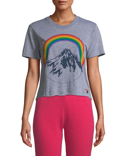 Mountain Rainbow Cropped Boyfriend Tee