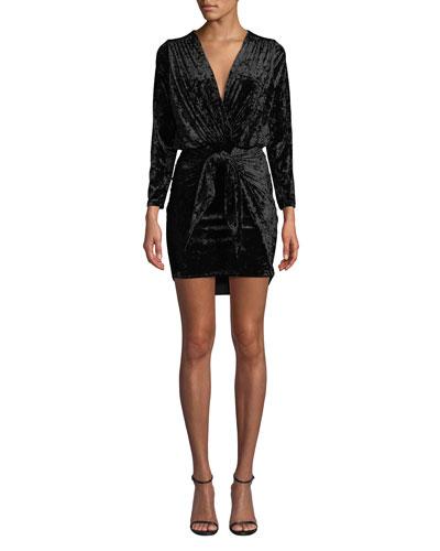 Ophelie Velvet 3/4-Sleeve Cocktail Dress