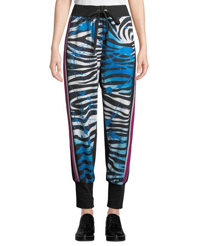 Kanawai Pana Zebra-Print Jogger Track Pants