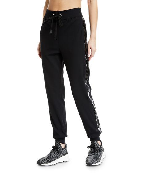 No Ka Oi Kana Drawstring Jogger Track Pants with Racer Stripes