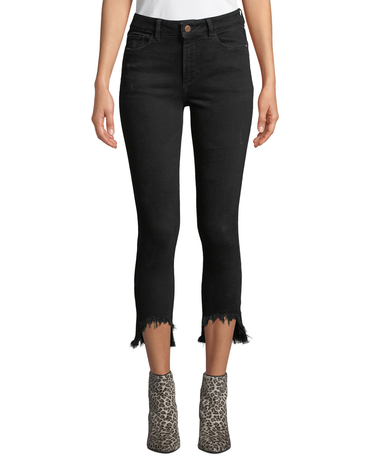 Farrow Cropped High-Rise Skinny With Chewed Hem in Montgomery